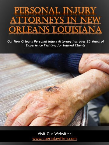 Personal Injury Attorneys In New Orleans Louisiana