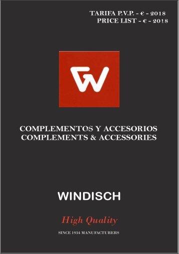 Windisch - Tarifa - 2018 - Accesorios y complementos