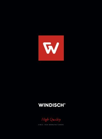 Windisch Catalogo General 2018