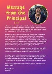 2. Principal Message 2018