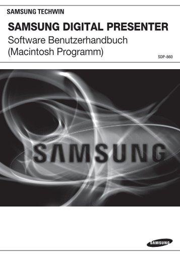 (De) Bedienungsanleitung: Software Mac