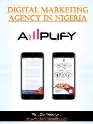 Digital Marketing Agency in Nigeria  | 348091577901 | workwithamplify.com