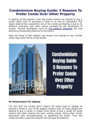 Condominium Buying Guide: 5 Reasons To Prefer Condo Over Other Property