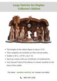Beautiful Large Nativity Set Display