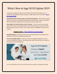 1-800-796-0471 What's New in Sage 50 US Update 2019