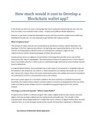 How much would it cost to Develop a Blockchain wallet app
