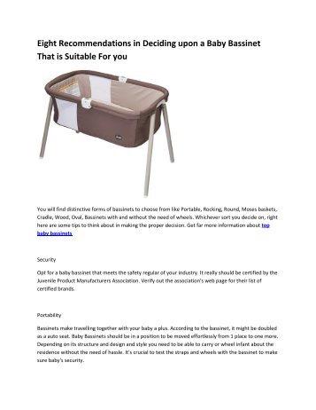 6 best bassinet