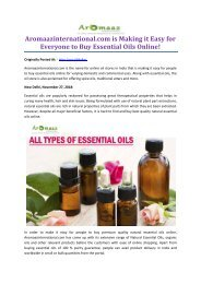 Aromaazinternational.com is Making it Easy for Everyone to Buy Essential Oils Online!