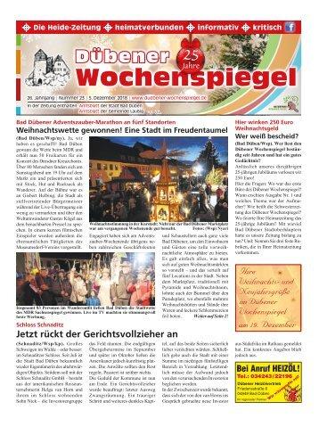 Dübener Wochenspiegel - Ausgabe 23 - Jahrgang 2018
