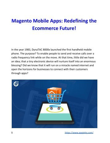 Magento Mobile Apps_ Redefining the Ecommerce Future!