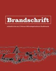 Brandschrift Feuerwehr Rosenfeld