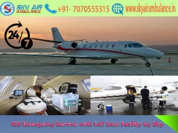 Receive Critical Patient Transfer in Bagdogra by Sky