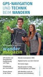 GPS-Navigation und Technik beim Wandern