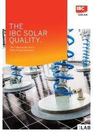 IBC SOLAR QUALITY: MODULE TEST PROCEDURE