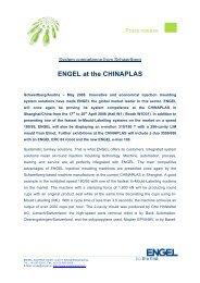 ENGEL at the CHINAPLAS - Engel Austria