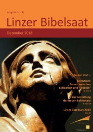 Linzer Bibelsaat Dezember 2018