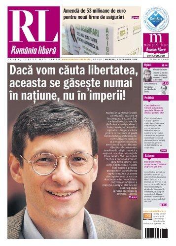 România liberă, miercuri, 05 decembrie 2018