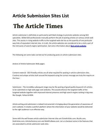 6 Best article website