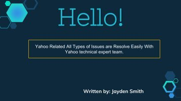 Yahoo Related Issues Solved Via Online | Dial +1-877-336-9533
