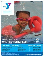 Brandywine YMCA - Winter Program Guide 2019