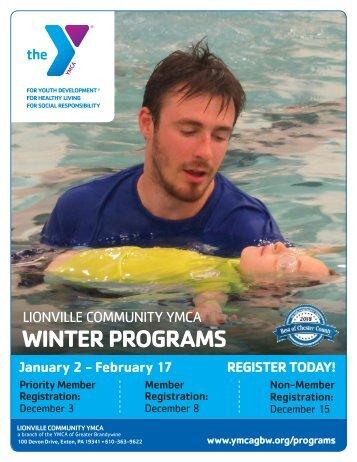 Lionville Area YMCA - Winter Program Guide 2019