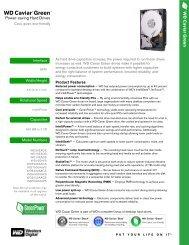 WD Caviar Green Series Disti Specification Sheet - Asbis