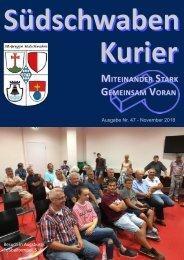 Südschwaben Kurier - NOVEMBER 2018