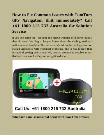 How to Troubleshoot Common Problems with a TomTom GPS Navigation Unit