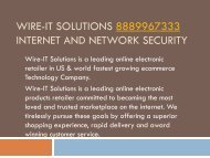 Wire-IT Solutions 8889967333 Internet and Network Security