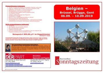Belgien Flugrundreise 06, bis 10.09.2019