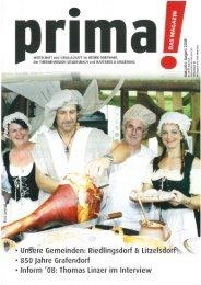 prima! Magazin - Ausgabe August 2008