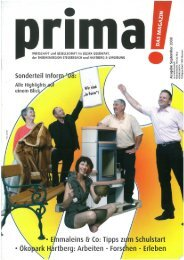 prima! Magazin - Ausgabe September 2008