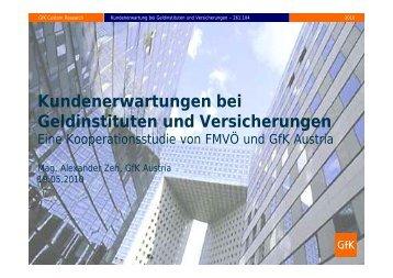 Kundenerwartungen bei Geldinstituten und Versicherungen - GfK