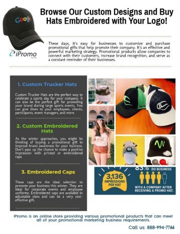 Browse Our Custom Designs and Buy Hats Embroidered with Your Logo