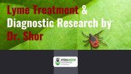 Lyme Treatment & Diagnostic Research by Dr. Shor