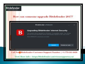How can someone upgrade Bitdefender 2017?