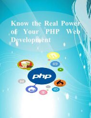 Know the Real Power of Your PHP Web Development