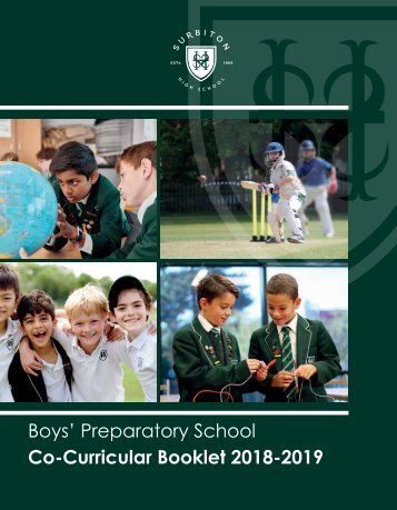 Boys' Prep Co curricular Booklet
