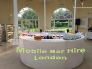 Mobile Bar Hire London- Best Option for Outdoor Party