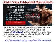 Andro Stack X Advanced Muscle Build