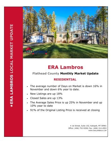 Flathead County Residential Market Update - November 2018