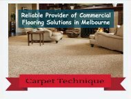 Reliable Provider of Commercial Flooring Solutions in Melbourne