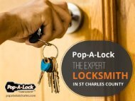 Pop-A-Lock of St Charles County – Expert Locksmith in St. Peters MO