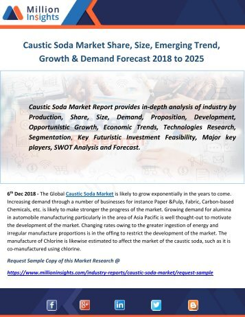 Caustic Soda Market Share, Size, Emerging Trend, Growth & Demand Forecast 2018 to 2025