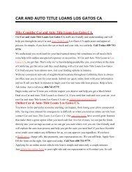 Gatl Auto Car Loans Los Gatos CA | 408-741-9779