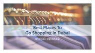 Best Places To Go Shopping in Dubai