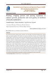 Pruning, cropping pattern and spacing regulation to enhance growth, production and seed quality of Jackbean (Canavalia ensiformis L)
