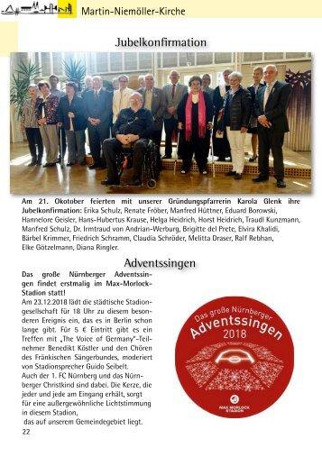 Gemeindebriefseiten MNK Dezember 2018 - Januar 2019
