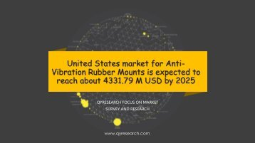 United States market for Anti-Vibration Rubber Mounts is expected to reach about 4331.79 M USD by 2025
