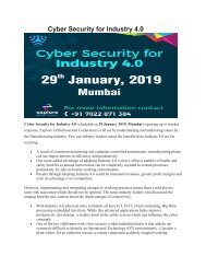 Cyber Security for Industry 4.0-Holiday Inn International Airport,Mumbai.